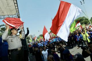 Kapolrestabes: Saya Dukung Gerakan Buruh Asalkan Jaga Surabaya