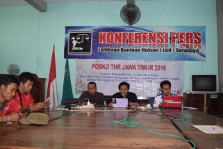 LBH Surabaya Luncurkan Posko THR 2018