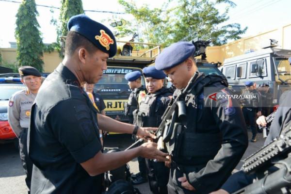 1.303 Personel Brimob Polda Jatim Diperbantukan Amankan Pilkada 2018