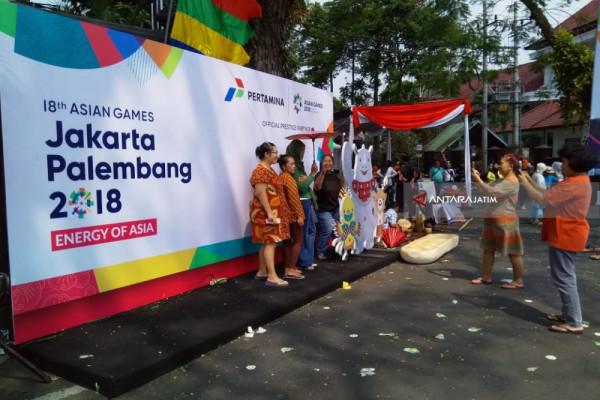 Sampai di Malang, Obor Asian Games Disambut Pentas Budaya (Video)