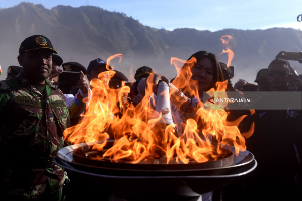 Torch Relay Asian Games Bromo