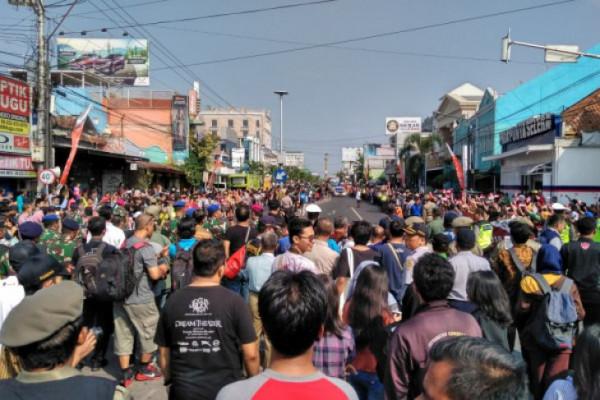 Masyarakat Solo Antusias Sambut Obor Asian Games