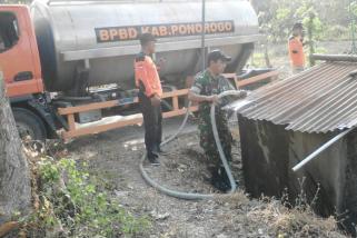 BPBD Ponorogo Salurkan Air Bersih di Wilayah Krisis