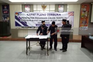 KPU Nganjuk Tetapkan Pasangan Novi-Marhaen Jadi Bupati dan Wakil Bupati Terpilih