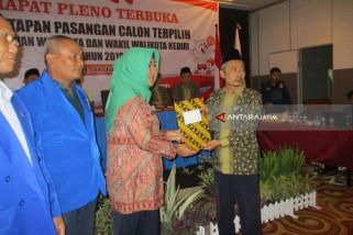 Mas Abu dan Ning Lik Ditetapkan Jadi Wali Kota dan Wakil Wali Kota Kediri Terpilih
