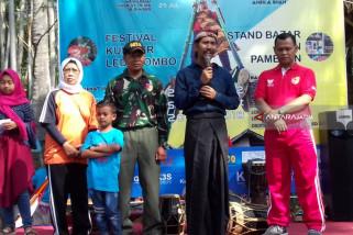 Festival Egrang ke-9 Diluncurkan Saat Kegiatan Pasar Lumpur di Jember