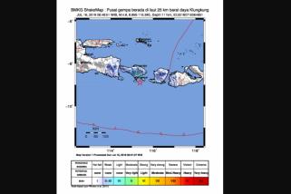 Puluhan Gempa Susulan Pascagempa Lombok