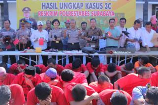 Polrestabes Surabaya Ciduk 487 Preman