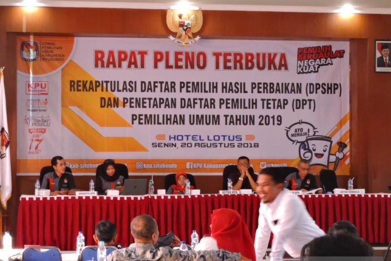 KPU Situbondo Tetapkan 479.755 DPT Pemilu 2019