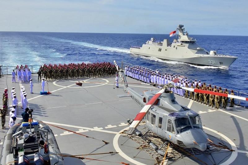 Marinir Peringati Kemerdekaan RI di Samudera Pasifik