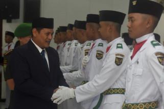Wali Kota Kediri Kukuhkan 70 Anggota Paskibraka