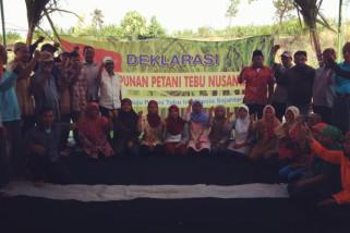 Puluhan Petani Deklarasikan HPTN Untuk Tebu Mandiri