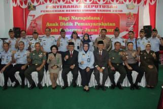 9.275 WBP Jatim Terima Remisi Umum Kemerdekaan