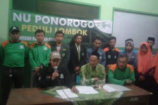 PCNU Ponorogo Kirim Relawan ke Lombok