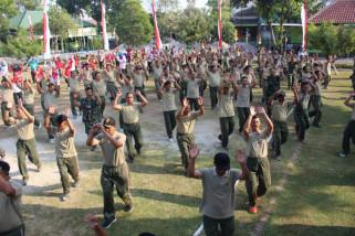 Jajaran Kodim Ponorogo Latihan Tari Siap Pecahkan Rekor MURI