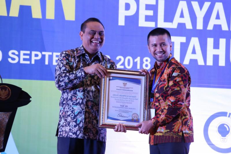Trenggalek Raih Penghargaan Inovasi Pelayanan Publik 2018