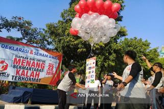 Senam Awas Pemilu 2019 Digelar di Pamekasan
