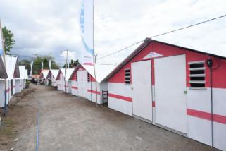 Pertamina Serahkan 250 Unit Rumah Transisi Lombok