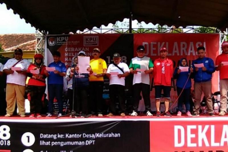 KPU Kabupaten Kediri  Deklarasikan Kampanye Damai