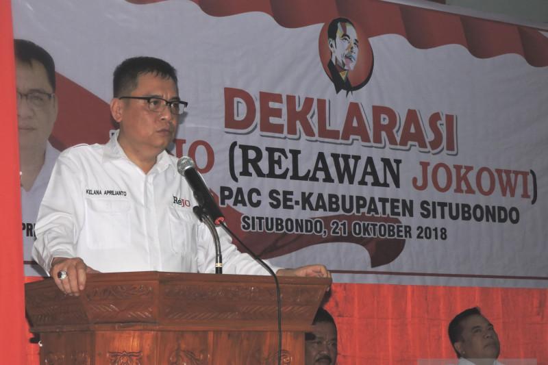 Relawan Jokowi Situbondo Optimistis Peroleh 75 Persen Suara (Video)