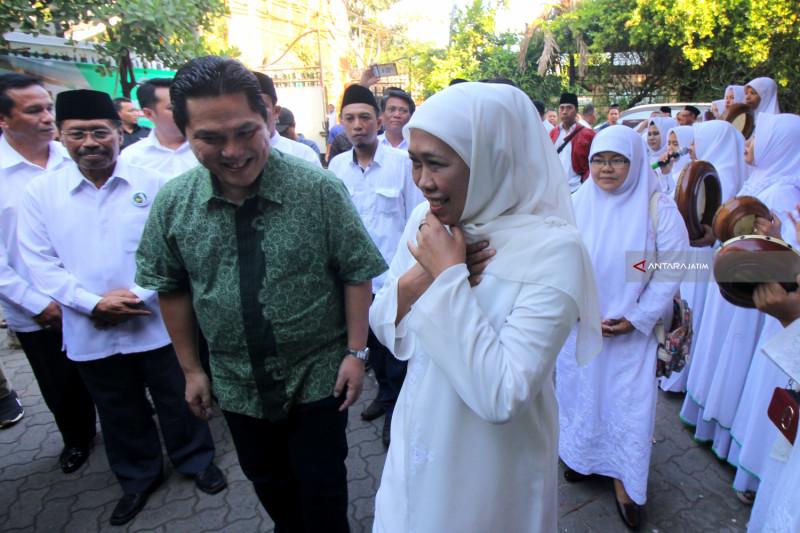 Khofifah Gerakkan Ustadzah Menangkan Jokowi-Ma