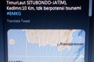 Warga Surabaya Rasakan Gempa