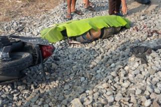 Seorang Pengendara Motor di Sidoarjo Tewas Tertabrak Kereta