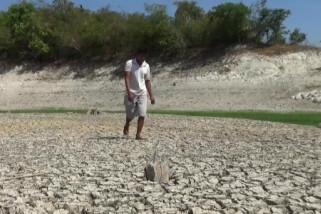 Ketinggian Air Waduk Pondok di Ngawi Menurun Selama Kemarau