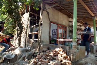Rumah terdampak Gempa
