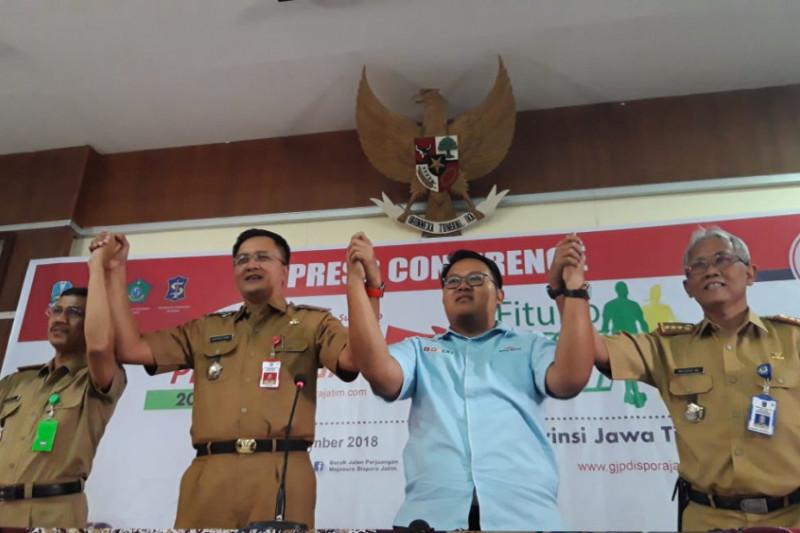 Panitia Larang Peserta Gerak Jalan Mojokerto-Surabaya Gunakan Atribut Parpol