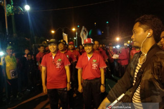 Hari Jadi Pamekasan, Ratusan Orang Mengikuti Gerak Jalan Palapa
