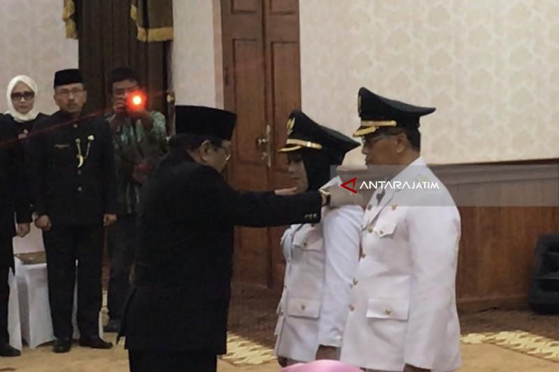 Gubernur Jatim Lantik Wali Kota-Wawali Mojokerto (Video)