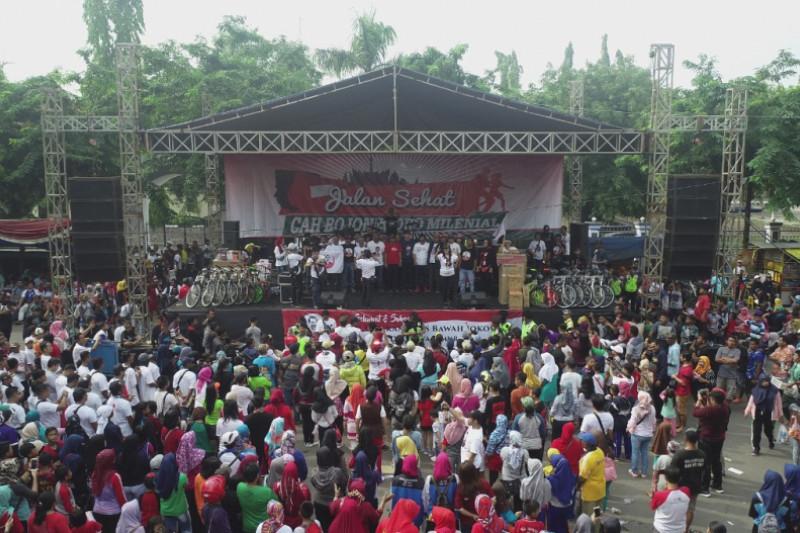 Jalan Sehat Arus Bawah Jokowi di Bojonegoro Diikuti 15.000 Peserta