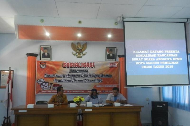 KPU Kota Madiun Sosialisasikan Rancangan Surat Suara Pemilu 2019