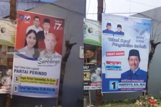 Pemasangan APK Antar-Caleg di Surabaya Memanas Jelang Pemilu 2019