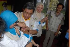 Tingkat Partisipasi Vaksin Campak-Rubella Jabar 95 Persen