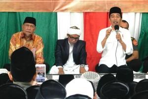Jokowi Diskusi dengan Santri Miftahul Huda