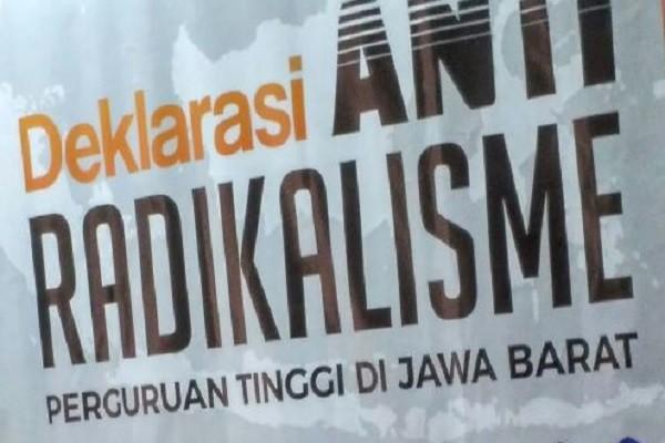 Perguruan Tinggi Se-Jabar Deklarasi Antiradikalisme
