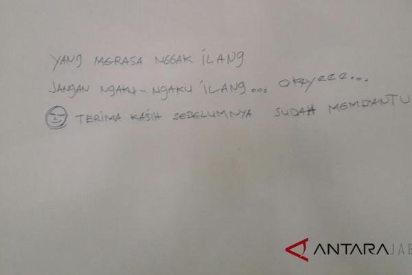 Pencuri di Cirebon tinggalkan pesan khusus