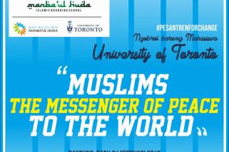 Mahasiswa asal kanada belajar Islam ke pesantren