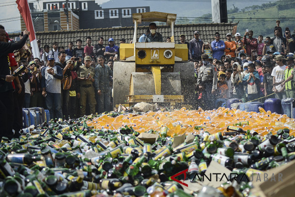 Pengedar miras di Tasikmalaya dijerat pasal pidana