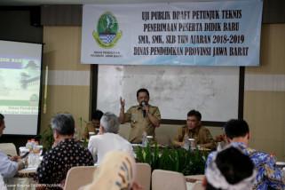 Dinas Pendidikan Jabar gelar uji publik PPDB