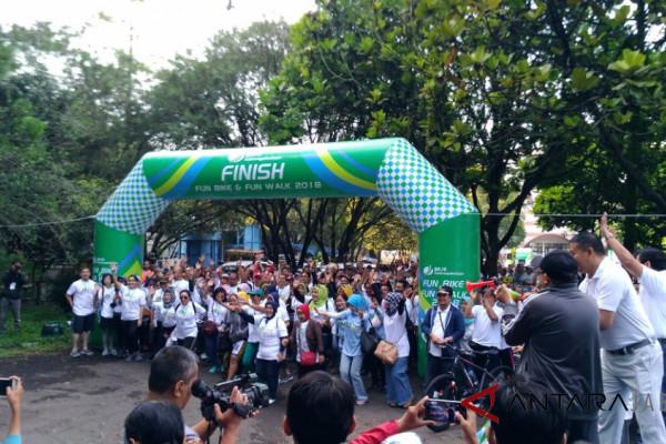 "BPJS-TK gelar ""fun bike"" bersama pekerja jabar"
