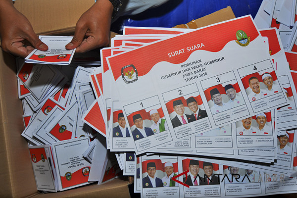 Ribuan surat suara Pilkada Kota Bandung rusak