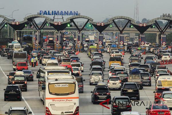 Kendaraan lintasi Cipali arah Jakarta mulai meningkat