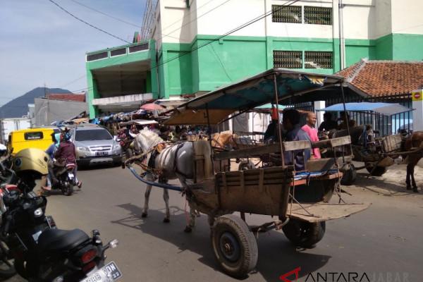 Delman kembali beroperasi di Jalan Raya Garut