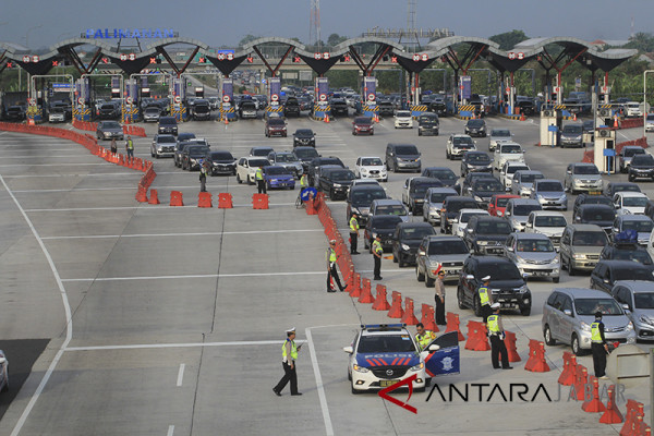 Kendaraan balik GT Palimanan baru 69,04 persen
