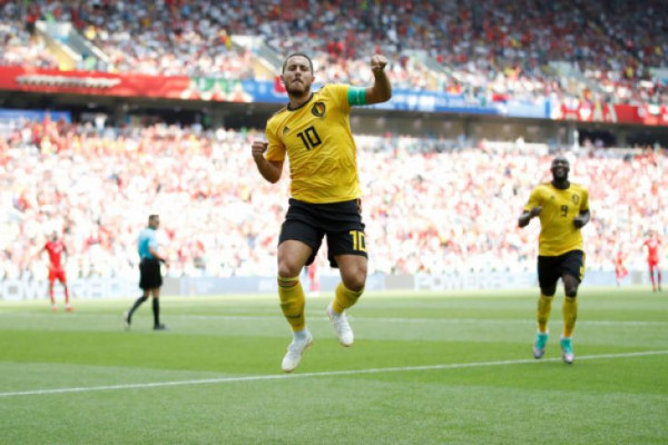 Belgia ke 16 besar setelah tumbangkan Tunisia 5-2
