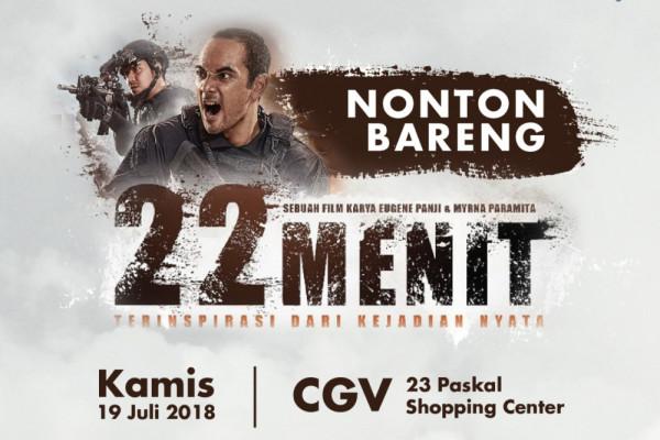"bank bjb gelar nobar Film ""22 menit"""