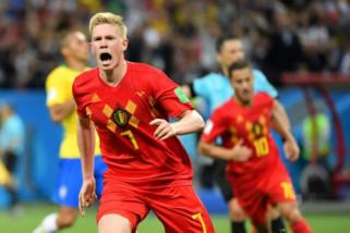 Belgia singkirkan Brasil 2-1